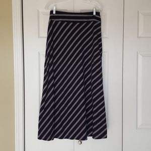 Talbots navy and white striped maxi skirt size s